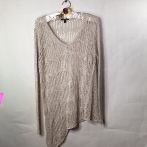 Eileen Fisher High/Low Crocheted Sweater Size Med.